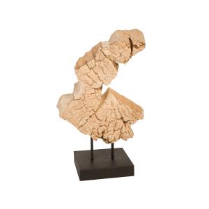 accessories teak sculpure 16-inch