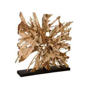 accessories teak sculpture 61-inch
