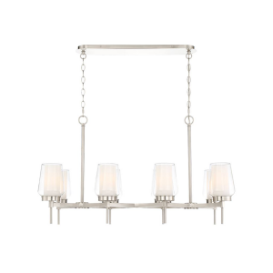 lighting manchester 38-inch chandelier satin nickel