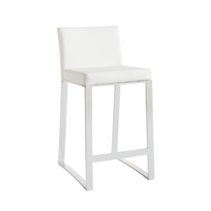 architect counter stool in white