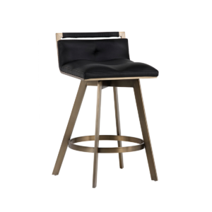 arizona counter stool in black leatherette