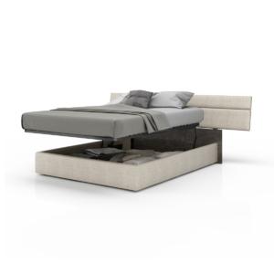 bedroom plank upholstered storage bed