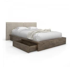 bedroom silk upholstered bed