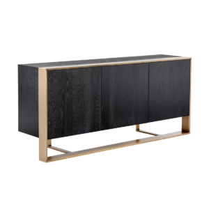 dalton sideboard in black and antique brass