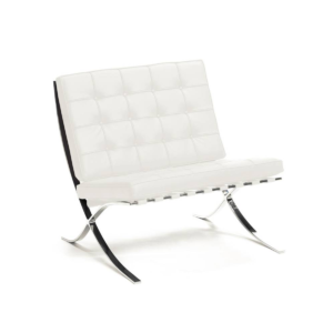living room barcelona accent chair white