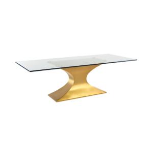dining room prague table gold base