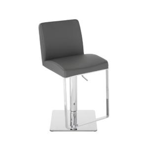 matteo hydraulic stool dark grey