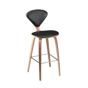 satine bar stool black leather