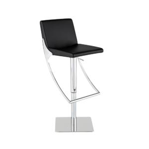 swing hydraulic stool black